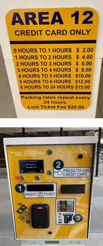 Parking rates at Georgia Tech