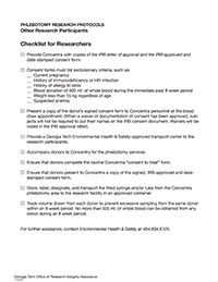 Other Researchers Checklist